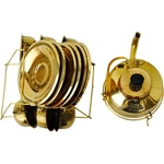 Brass Mini Miniature Tea Cup Saucer Kettle set for Children Playing  F079