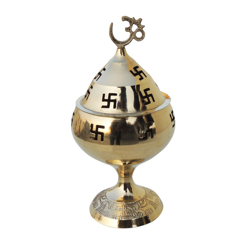 Brass Om Pakija Deepak - 5 Inch (Z164 G)