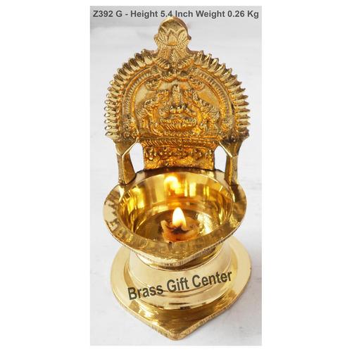 Brass Kamakshi Velakku Deepak - 3.13.15.4 Inch  Z392 G