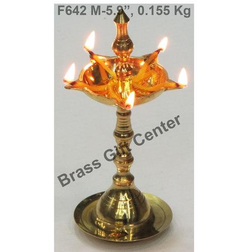 Brass Kerala Fancy Deepak Diya - 5.9 Inch  F642 M