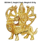 Brass Durgaji Small In Natural Brass Finish - 3 inch BS1044 C