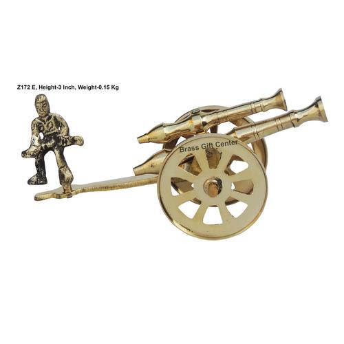 Brass Small Toop Cannon No. 7 - 6.52.33 Inch  Z172 E