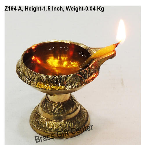 Brass Kuber Deepak Diya With Stand No. 00 - 1.8*1.6*1.5 Inch  (Z194 A)