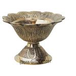 Brass Kamal Shape Deepak Diya - 2.8 nch  (F636 B)