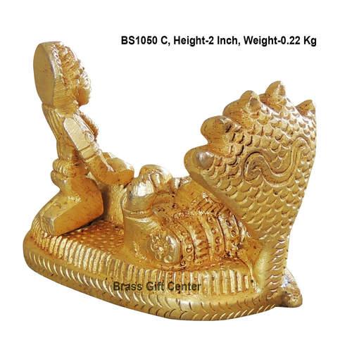 Brass Vishnu Laxmi Statue Murti idol 220 gm - 2.51.52 inch  BS1050 C