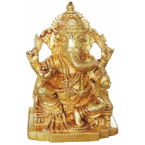 Brass Ganesh Statue Murti Idol in Super fine Finish - 3.82.75 inch 1.25 kg BS221