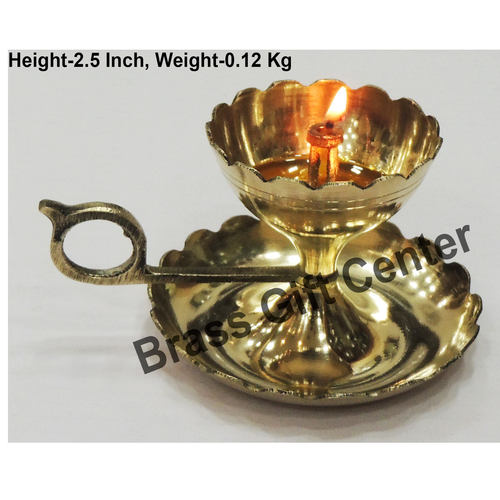 Brass Diya Deepak Sampat Jyoti No. 2 - 4.7*3.6*2.5 inch  (Z149 C)