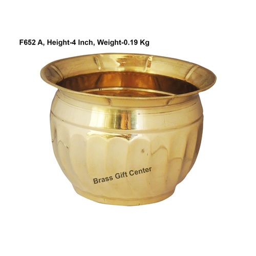 Brass planter Pot Gamala Diameter 6 Inch weight 200 gm  F652 A