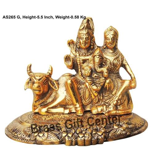 Shiv Parivar statue idol Murti Silver Antique Finish- 6.85.25.5 Inch AS265 G