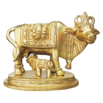 Brass Cow With Calf Gaye Bacdha 433 Inch  BS889 X