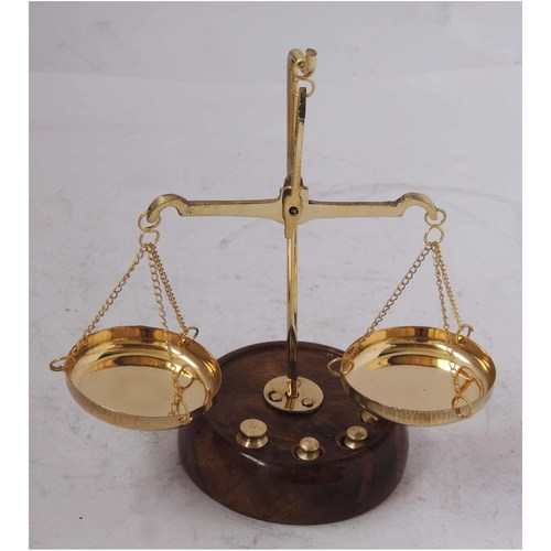 Brass Taarzu 10 gm Weighing Machine - 5.52.55.5 inch  Z303 B