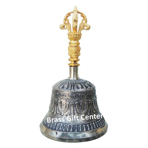 Bronze Kansa Hand Bell - 6.5 Inch  Z114 D