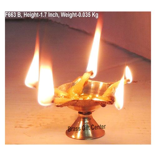Brass Panchmukhi Star Deepak No. 00 - 2.8 Inch  (F663 B)