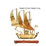 Brass Ship In Shinning Brass Polish finish - 15.2 Inch MR129 B