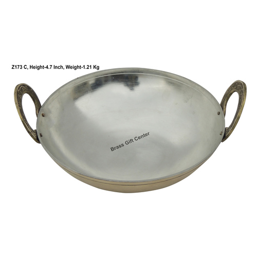 Brass Kadai With Kalai Work 1.75 liter - 9.8*9.8 Inch  (Z173 C)