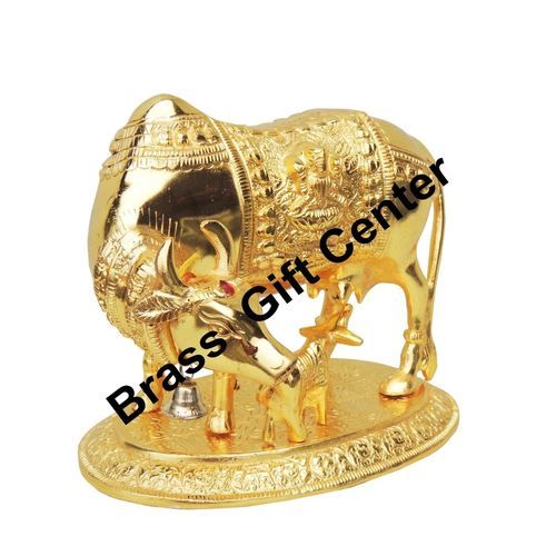 Gaye Bachdha Cow With Calf Statue - 7.5 Inch AS129 G