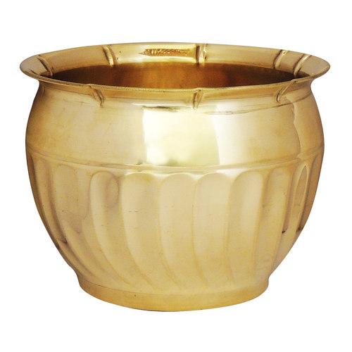 Brass planter Pot Gamala Diameter 8 inch weight 0.5 Kg  (F254)