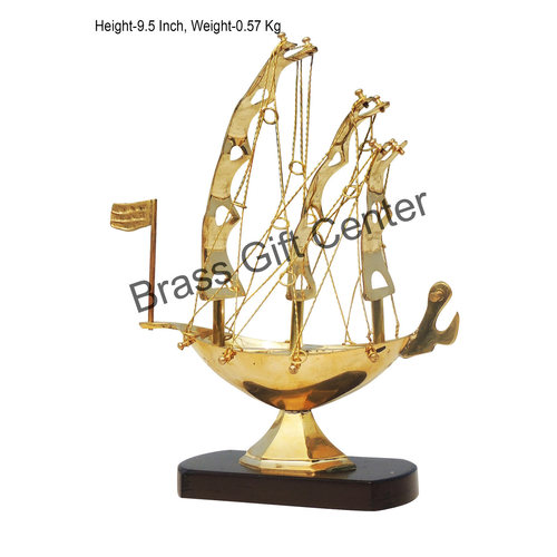 Brass Ship In Shinning Brass Polish finish - 9.5 Inch MR222 B