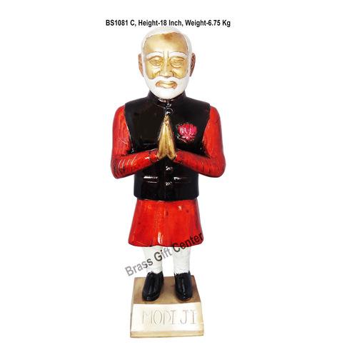 Brass Narendra Modi Staute Murti Idol- 6.8 Kg - 54.518 Inch  BS1081 C