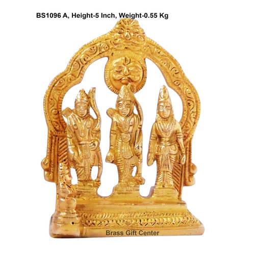 Brass Ram Dharbar Statue Idol Murti - 3.5x2x5 Inch  (BS1096 A)