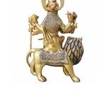 Brass Durga Ji StatueMurtiIdol With Multicolour Finish-10.5 Inch BS937 B