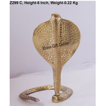 Brass Snake Saap For Shivling With Brass Finish, Height 6 Inch Z299 C