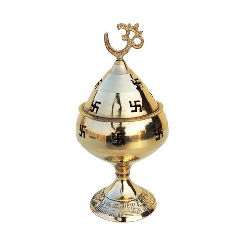 Brass Om Pakija Deepak - 3.5Inch (Z164 D)