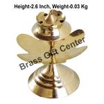 Brass Kamal Patta Agardan Agarbatti Stand Incense Holder - 2.5*2.5*2.6 inch  (Z147 E)