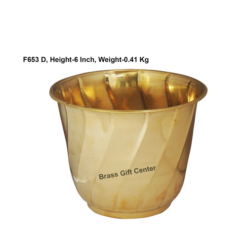 Brass planter Pot Gamala Diameter 7 Inch weight 410 gm  F653 D