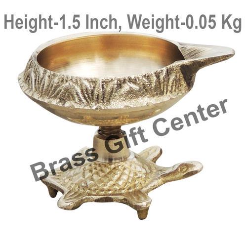 Brass Kuber Tortoise Diya Deepak No. 0 - 2.2*1.7*1.5 Inch  (Z141 B)