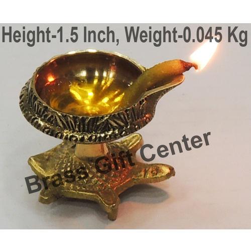 Brass Kuber Tortoise Diya Deepak No. 00 - 1.9*1.6*1.5 Inch  (Z141 A)