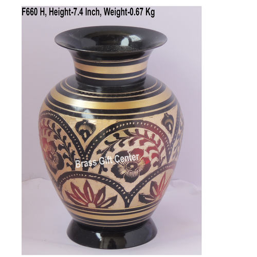 Brass Flower Vase pot with Handwork - 5*5*7.4 Inch