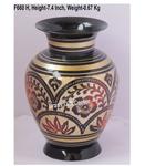 Brass Flower Vase pot with Handwork - 5*5*7.4 Inch