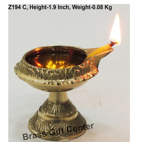Brass Kuber Deepak Diya With Stand No. 1 - 2.5*2.1*1.9 Inch  (Z194 C)