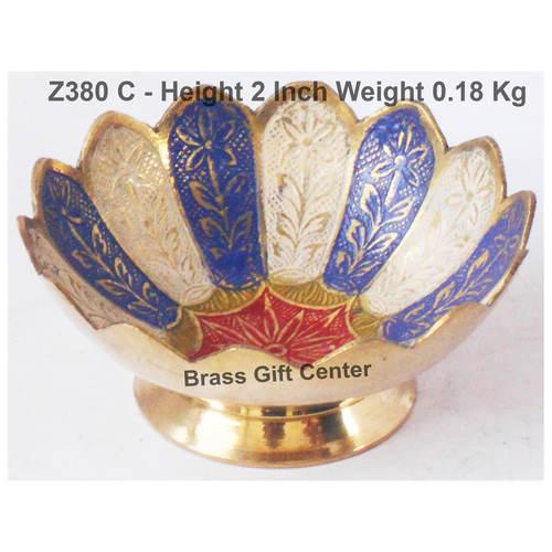 Brass Lotus kamal Shape Bowl Multicolour - 4.5 Inch Z380 C