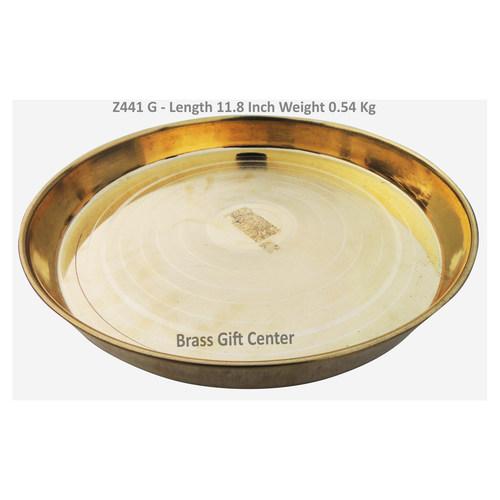 Brass Thali No. 14 - 11.8 Inch Z441 G