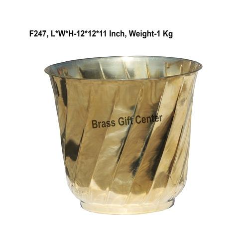Brass planter Pot Gamala Diameter 12 Inch weight 1 Kg  F247
