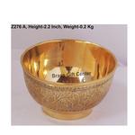Brass Bowl Katori Embose Design - 4*4*2.2 Inch  (Z276 A)