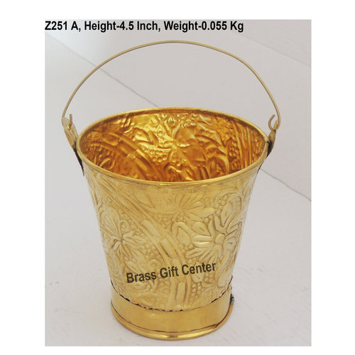 Brass Bucket Miniature for Children Playing - 444.5 inch  Z251 A444.5 inch