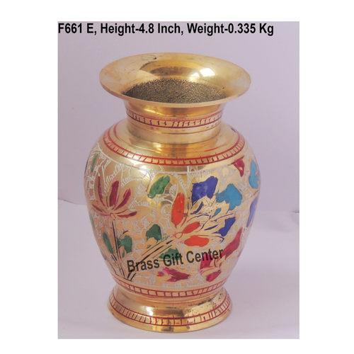 Brass Flower Vase pot with Handwork - 3.5*3.5*4.8 Inch  (F661 E)