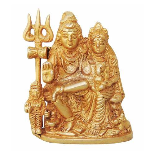 Brass Shiv parivaar  Statue Murti Idol - 3.524.5 Inch  BS760 C