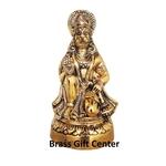 Aluminium Hanumanji in Gold Antique - 6.2 Inch (AS256 G)