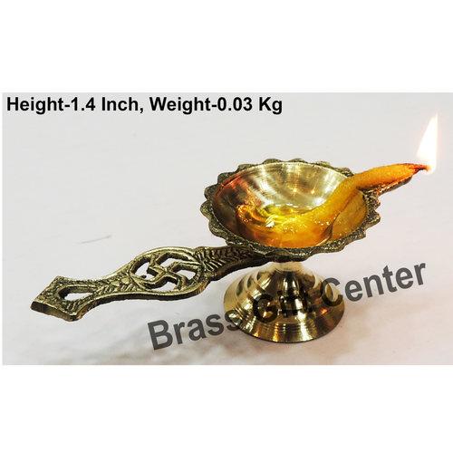 Brass Swastic Diya Deepak - 41.84 Inch  Z144 B