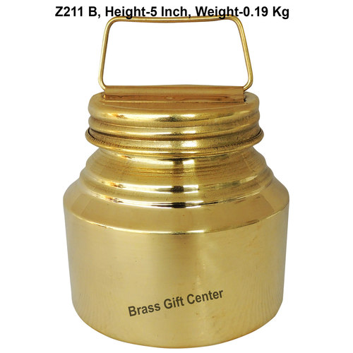 Brass Ganga JAL Pitcher Gangajali 500 ml- 3.83.85 inch  Z211 B