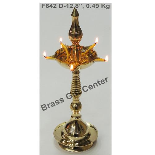 Brass Kerala Fancy Deepak Diya - 12.8 Inch  (F642 D)