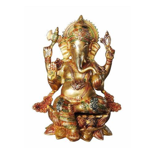 Ganesh on Kamal  Statue/Murti/Idol - 11.5 inch (BS1060 G )