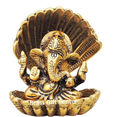 Ganeshji in Seep Silver - 4 inch AS190 G