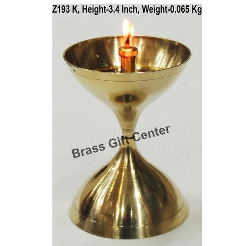 Brass Akand Diya Deepak No. 11- 2.4*2.4*3.4 Inch  (Z193 K)