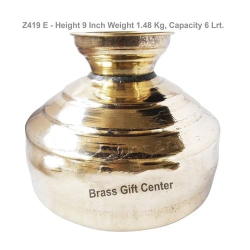 Brass Pangal Panai Matka Handa Tamdhi No. 12 - 6 Liter - 10109 inch Z419 E