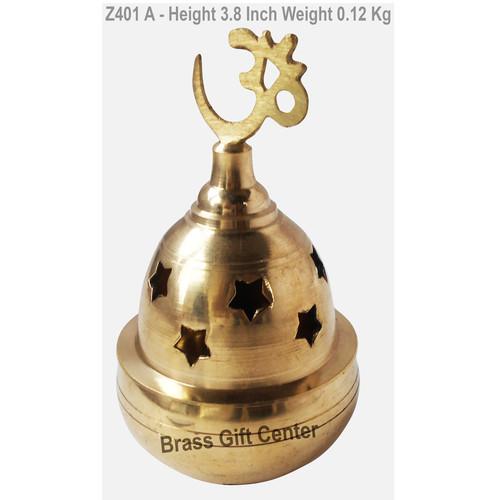 Bras Oil Lamp Deepak With Om Height 3.8 Inch Z401 A